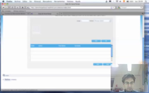 blurred screen capture of another usability testing on O2 Health pilot project