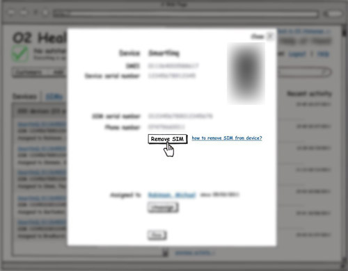 blurred Balsamiq wireframe with an action button, showing a link with extended help on the results of the action