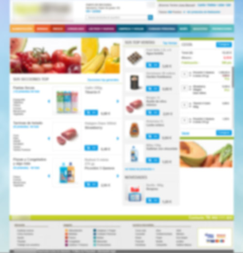 blurred image of development prototype for the online supermarket project
